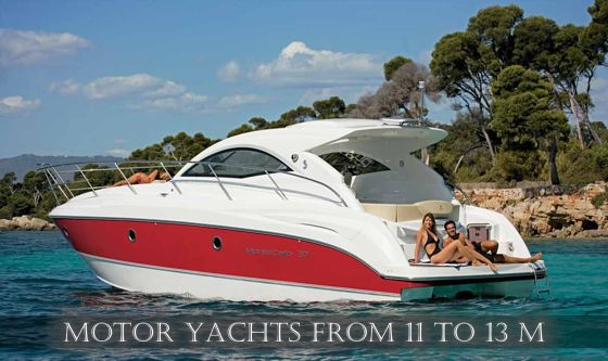 Motor yachts from 11 to 13 m for charter in Croatia