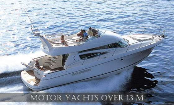 Motor yachts over 13 m