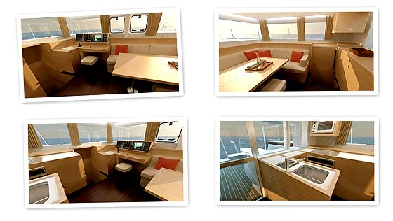 Catamaran Lagoon 450 charter version - saloon