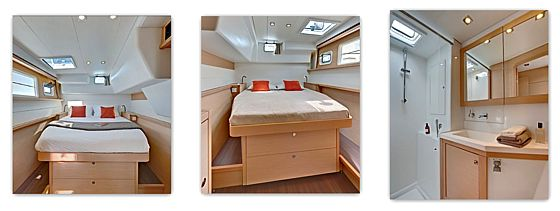 Cat Lagoon 450 - head and cabins