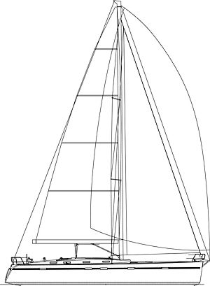 Bavaria yachts - Cruier 55 Sail plan