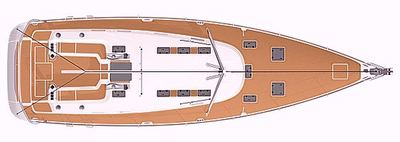 Deck plan - Bavaria Cruiser 55