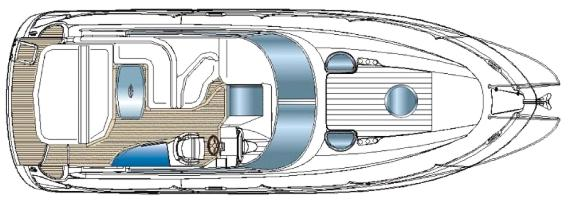Motor boat Bavaria 33 Sport - Main deck layout