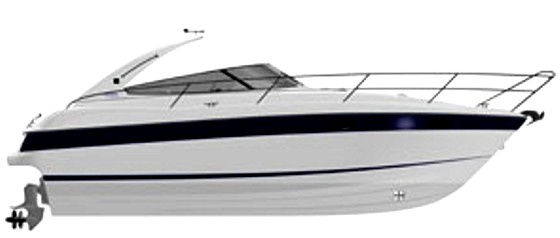 Motor boat Bavaria Sport 33 - drawing